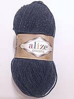 Пряжа альпака рояль Алізе, Alpaca royal Alize, Альпака Ализе.100 гр. 250 м. Темно сині джинс 203