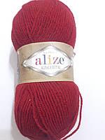 Пряжа альпака рояль Алізе, Alpaca royal Alize, Альпака роял Ализе,100 гр. 250 м. Червона 056
