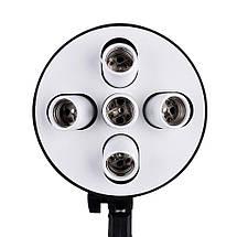Софтбокс (softbox) 60x90 см на 5 ламп e27. постійний студійне світло зі стійкою і дифузором розсіювачем, фото 3