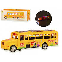 Автобус 2268-6 муз батар. Звук світло  в кор. 27 5*8 5*9 5см р-р іграшки - 27*8*8 5