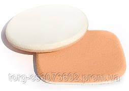 Спонж для макияжа Parisa, C-27 (2 шт, квадрат+круг)