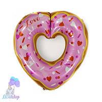 Фольгированный Шар Фигура Пончик Сердце Anagram (США) 63x66 см