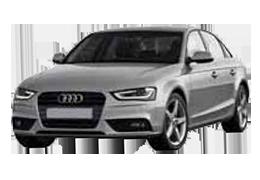 Накладки на задний бампер для Audi (Ауди) A4 B8 2008-2015