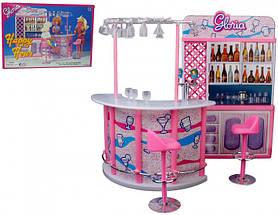 Детский игровой набор Бар Gloria | Набор барная стойка, стулья, посуда