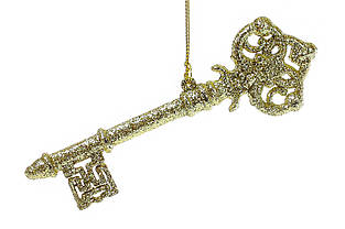 Игрушка на елку Ключик 14см цвет - золото BonaDi 788-318 новогодние украшения