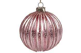 Елочные игрушки шары Стелклянный шар цвета пудровый металлик 8см новогодние украшения
