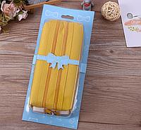 Школьный пенал косметичка для девочки девушки желтый с кодовым замком непромокаемый 2 отделения с паролем