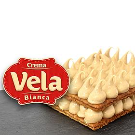 Кондитерський крем молочно - горіховий Вела Ночола Б'янко / Vela Nocciola Bianca, 6 кг