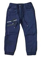 Штаны теплые для мальчика на манжете, 110-140