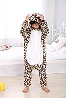 Кигуруми для детей Леопард, кигуруми пижама детская Леопард
