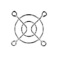 Решетка для вентилятора 40 x 40 mm, металлическая, никелированная