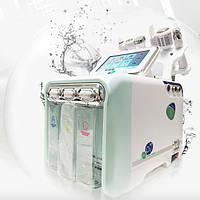Косметологический комбайн водородного пилинга, гидродермабразии 6 в 1 и МНОГОПОЛЯРНЫМ RF лифтингом