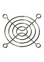 Решетка вентилятора 60х60мм, метал. никелир.