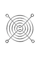 Решетка вентилятора 80х80мм метал., никелированная