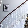 "Уличная Cветодиодная гирлянда Занавес ""Waterfall"" Водопад 3х1.5 метра Белый, 300 LED прозрачный силикон, фото 3"