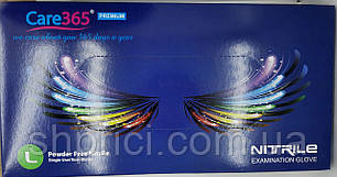 Перчатки нитриловые смотровые нестерильные неопудренные кобальтовые, размер L/ CARE 365