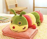 "Детский плед - игрушка ""Гусеница"" 3в1 (игрушка+подушка+плед), фото 1"