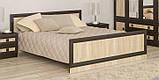 Кровать двухспальная 160 Даллас (Мебель-Сервис)  2045х1800х795мм каштан, фото 2