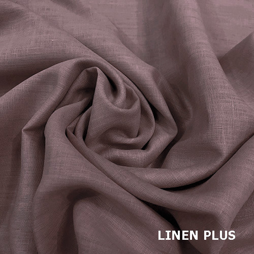 Светло - коричневая льняная ткань, цвет 1212