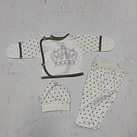 Распашонка, ползуны, шапочка для новорожденного мальчика в роддом, р. 0-1 мес