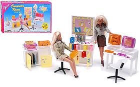Детский игровой набор мебели Gloria для компьютерного класса | Набор стулья, доска, компьютеры