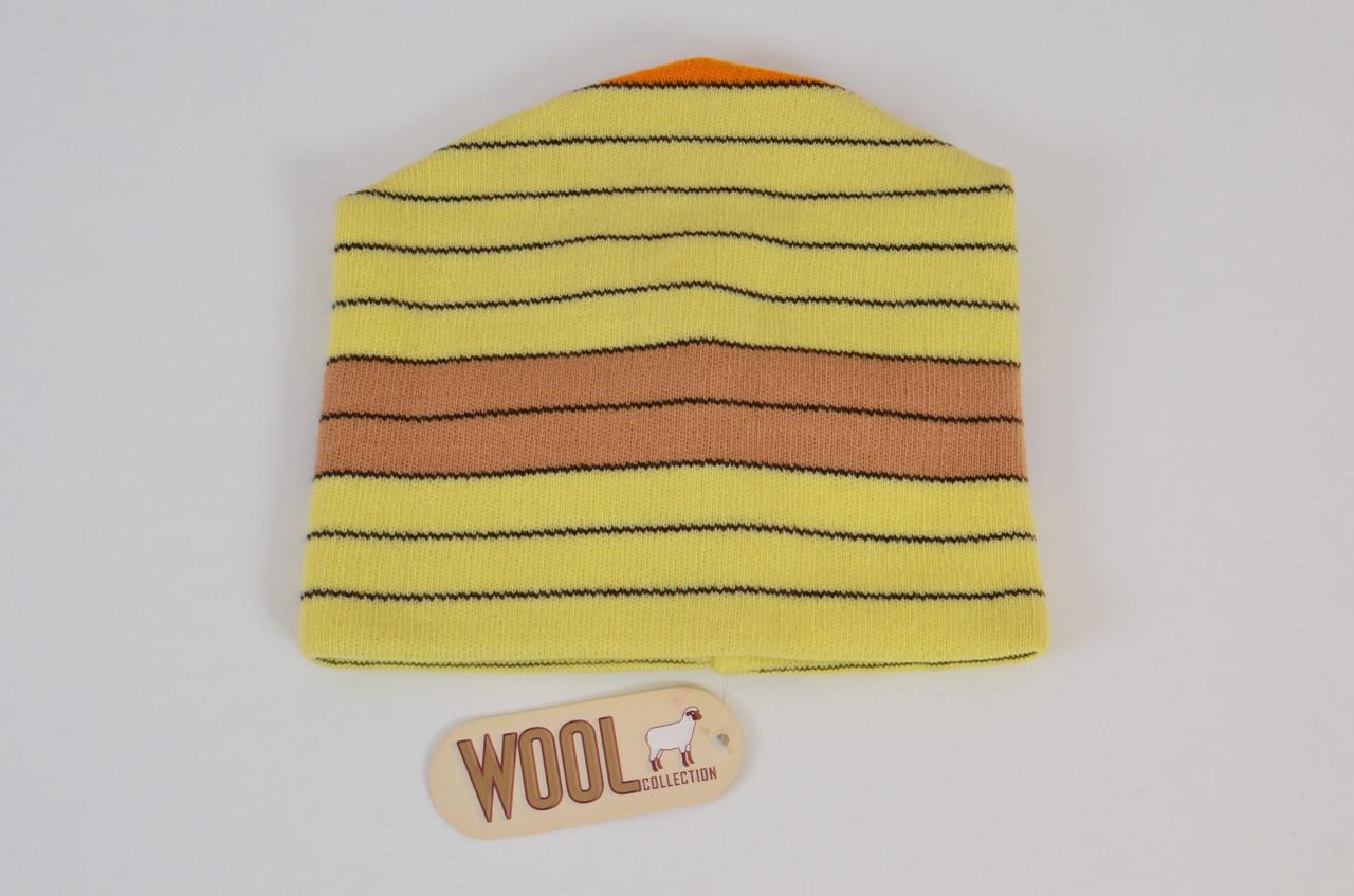 Тепла світло-жовта якісна практична чоловіча в'язана шапка