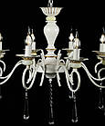 Люстра-свеча на 8 ламп белая патина с золотом VL-30662/8 (GWT), фото 4