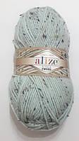 Пряжа альпака рояль Алізе Alpaca royal Alize TWEED 100 гр. 250 м. Пряза Ализе альпака, м'ятна світла 522