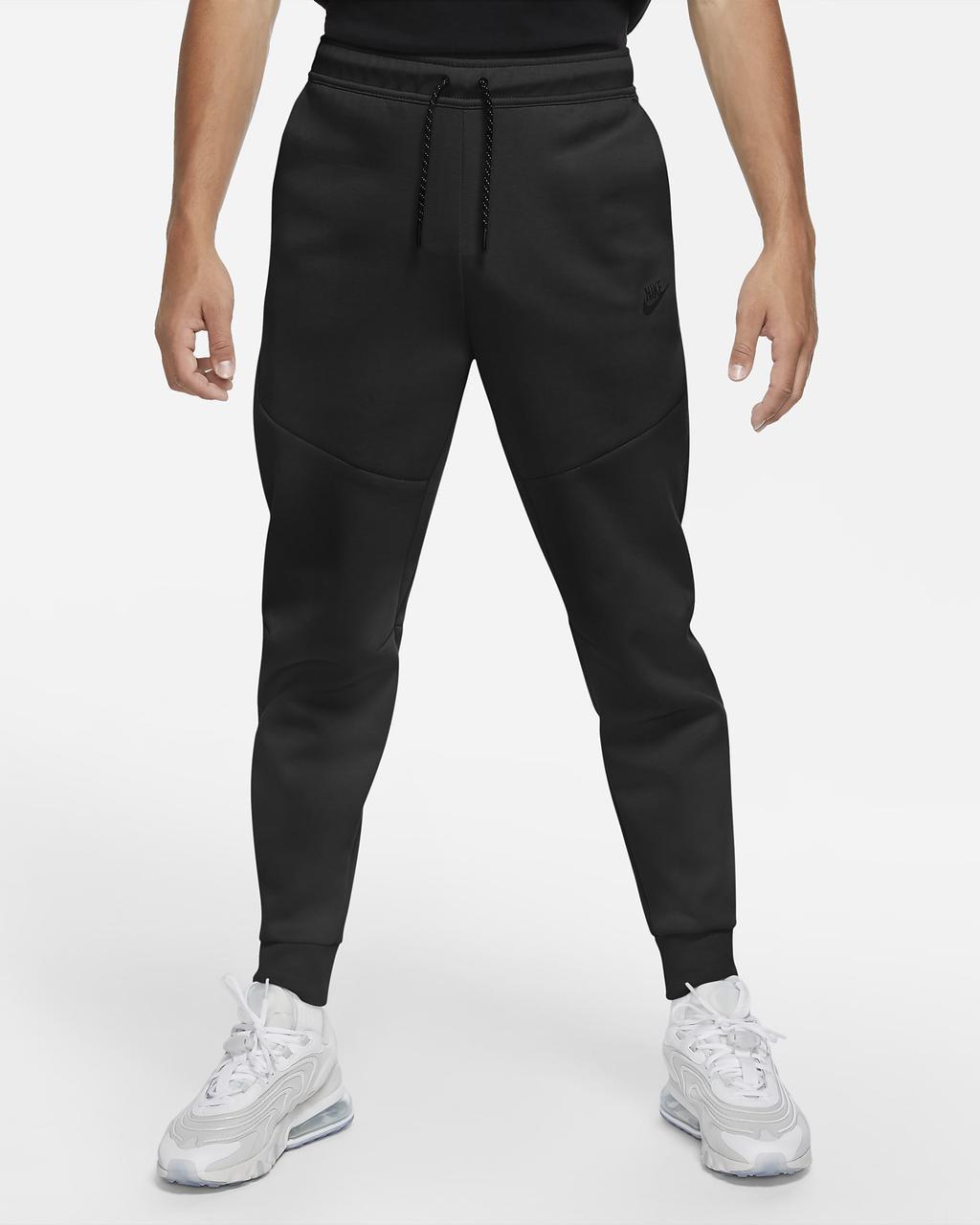 Штаны спортивные мужские Nike флисовые черные M NSW TCH FLC JGGR