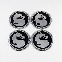 Наклейки на ковпачки Mortal Kombat чорні 65 мм