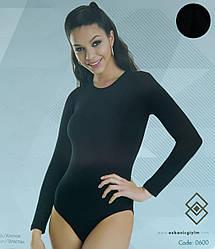 Комбидресс женский с длинными рукавами черного цвета
