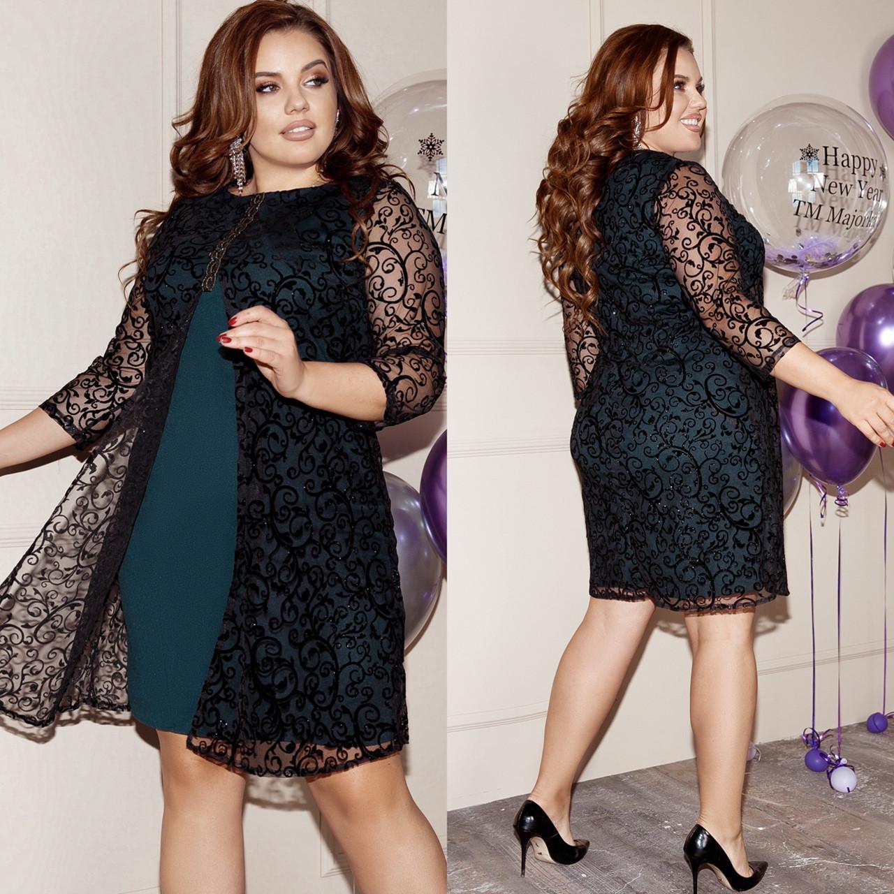 Стильное платье    (размеры 48-62) 0259-20