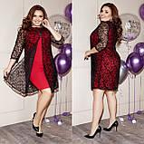 Стильное платье    (размеры 48-62) 0259-20, фото 3
