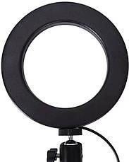 Кольцевая LED лампа S31 (1 крепл.тел) (управл. на проводе) USB (33см) (30), фото 3