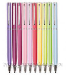 """Ручка шариковая """"Fun pastel"""" 7604 металлическая поворотная синяя"""