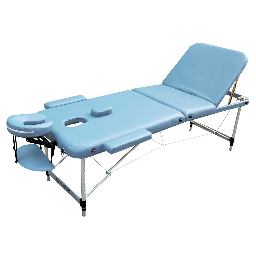 Массажный стол  складной ZENET  ZET-1049 LIGHT BLUE размер M ( 185*70*61)