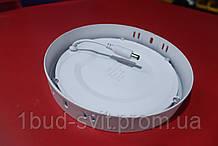Светодиодный светильник LUMEN ONE  LED SDL 18w 4100k круг накл. 225мм білий