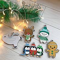 Необыкновенный подарочный набор новогодних деревянных игрушек на елку