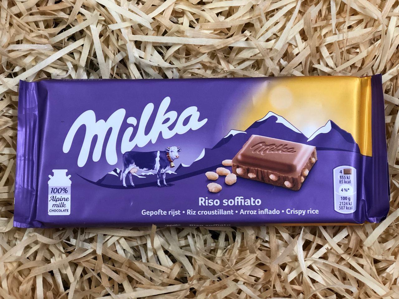Шоколад  Milka RISO SOFFIATO 100г