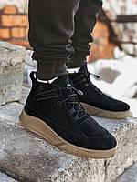 Мужские зимние ботинки черные Gross 6999