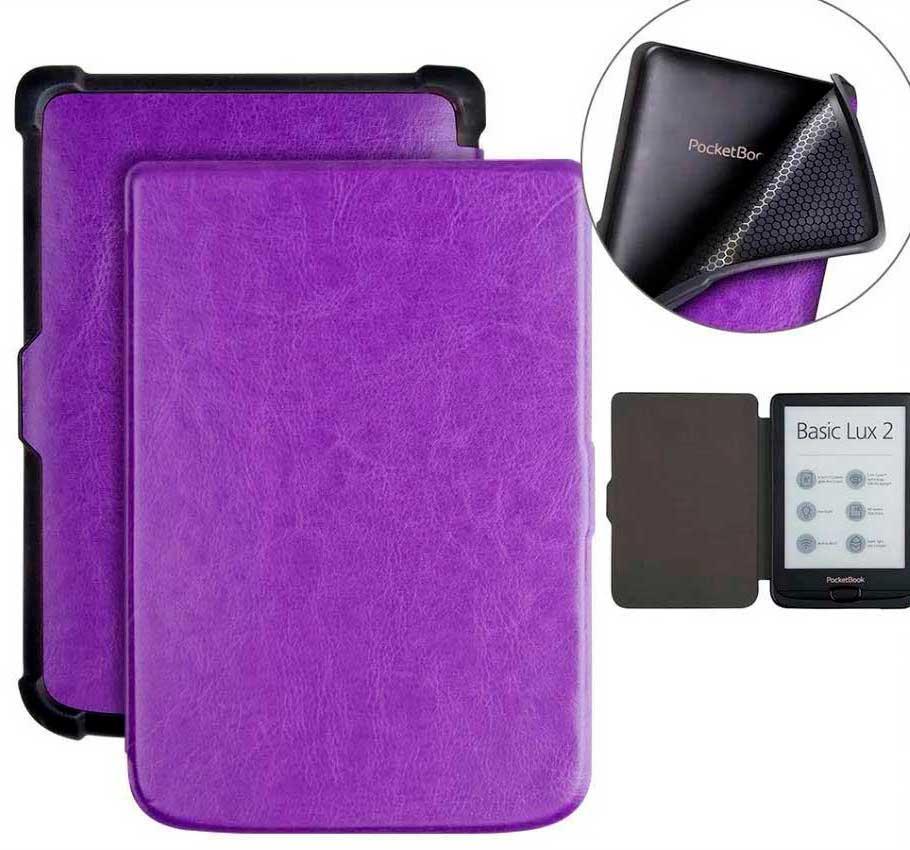 TPU фиолетовый чехол для PocketBook 633 Color