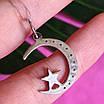 Исламский кулон из серебра Месяц со звездой, фото 2