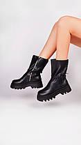 Женские высокие ботинки черные Остался 39 размер, фото 3