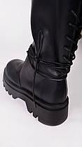 Женские высокие ботинки черные Остался 39 размер, фото 2