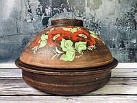 Глиняная форма для выпекания с рисунком 2 л, фото 1