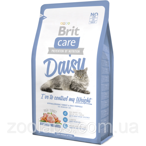 Корм Brit Care для кошек с индейкой | Brit Care Cat Daisy I Have To Control My Weight 7 кг
