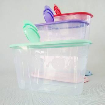 Ёмкость для сыпучих продуктов,  объём —1,3 л цвет крышки  в ассортименте., фото 2