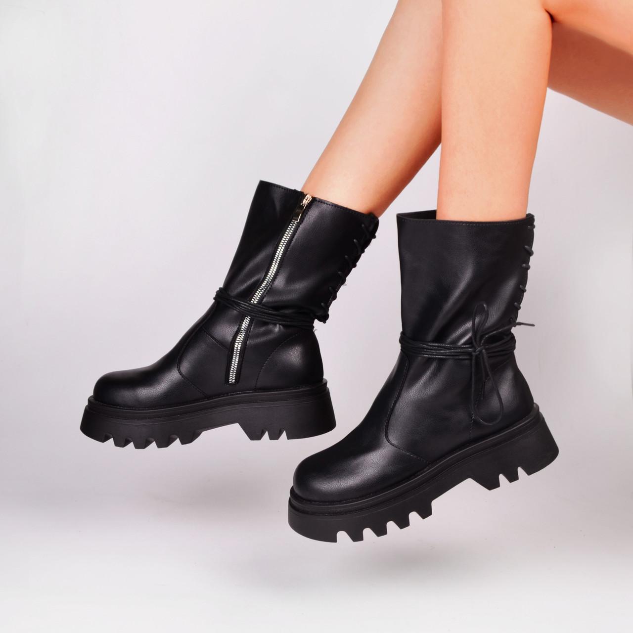 Женские высокие ботинки черные Остался 39 размер