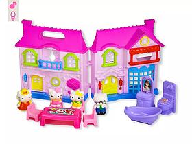 Детский игровой набор домик Hello Kitty | Домик, фигурки, мебель