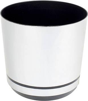 Горщик квітковий пластиковий d160мм-15/0537,v-2,5 л срібло(10)